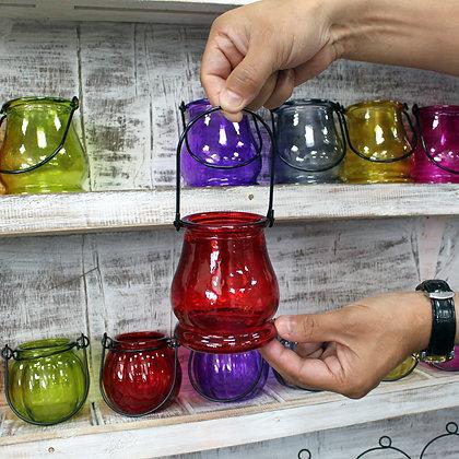 Recycled glass tea tree holder - Purple Nanny