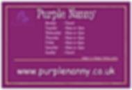 Purple Nanny Abbotsbury Opening Hours