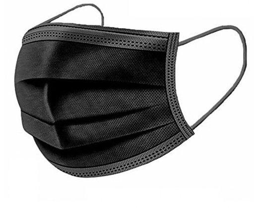 Disposable face shields (black) - 50 pieces
