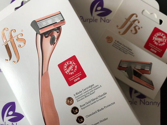 Rose gold shaver with one shaver head