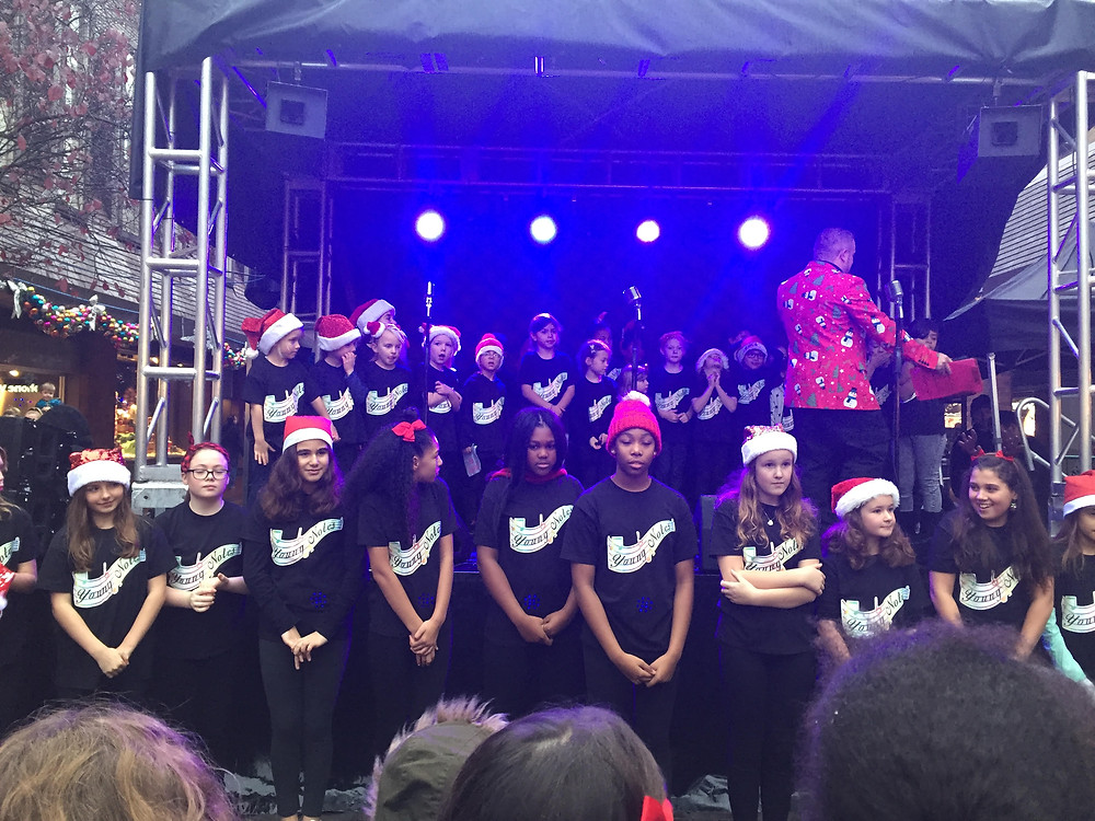 Performance in Enfield Town Palace Gardens for the switching on of the Christmas lights.