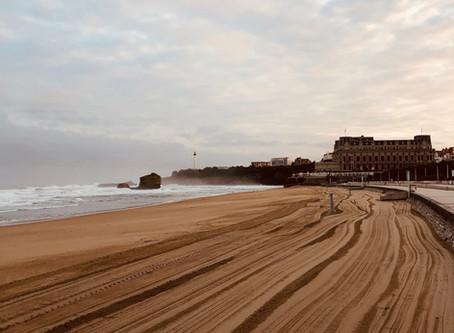 La Grande plage au pied du Casino Barièrre