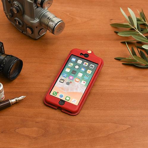 iPhone7,8plus用革ケース / Classic Red