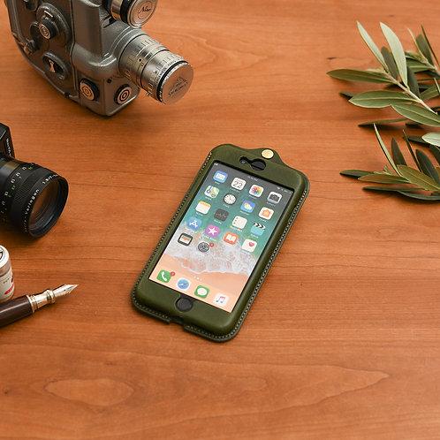 iPhone7,8plus用革ケース / Classic Green