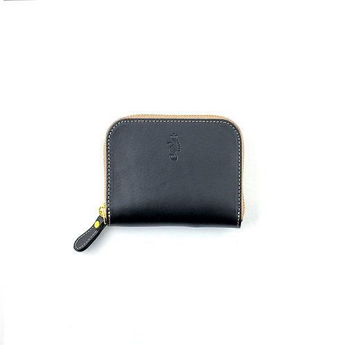 ラウンドファスナー財布S / Classic Black