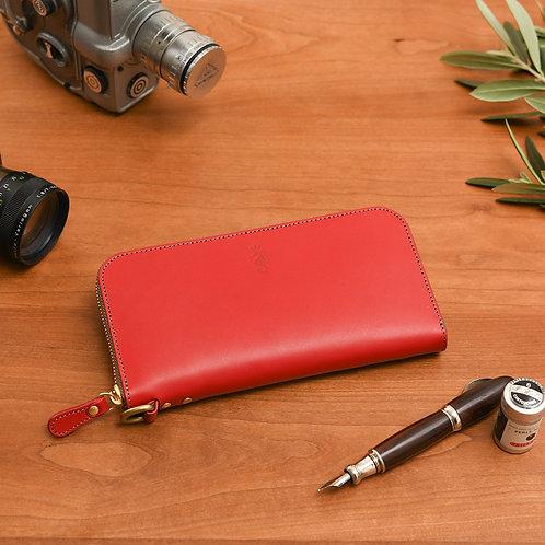 ラウンドファスナー財布L / Classic Red