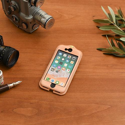 iPhone7,8,SE(2020)用革ケース / Natural