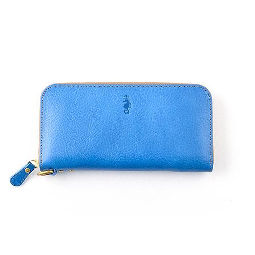 ラウンドファスナー財布L / Ruga Blue
