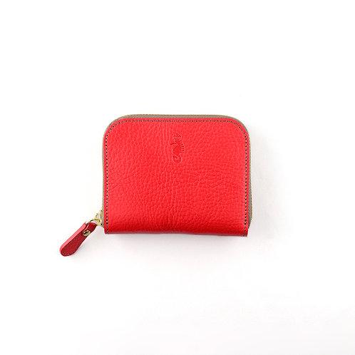 ラウンドファスナー財布S / Ruga Red