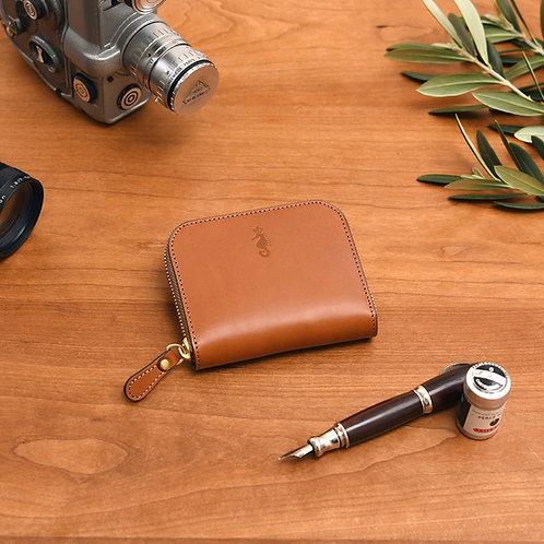 ラウンドファスナー財布S / Classic Brown
