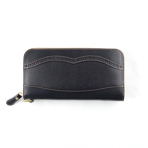 ラウンドファスナー財布L / メダリオンClassic Black