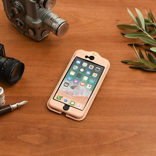 iPhone7,8plus用革ケース / Natural