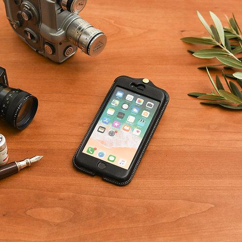 iPhone7,8plus用革ケース / Classic Black
