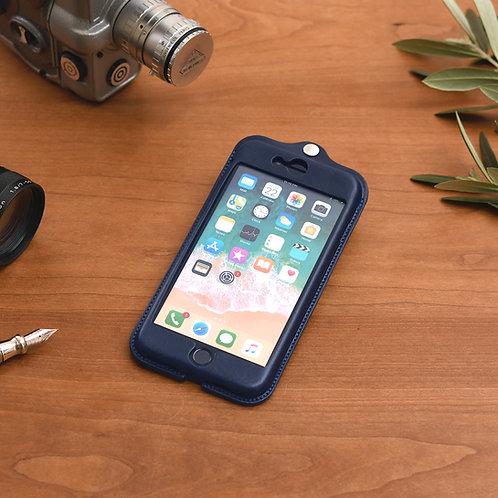 iPhone7,8plus用革ケース / 藍染Indigo