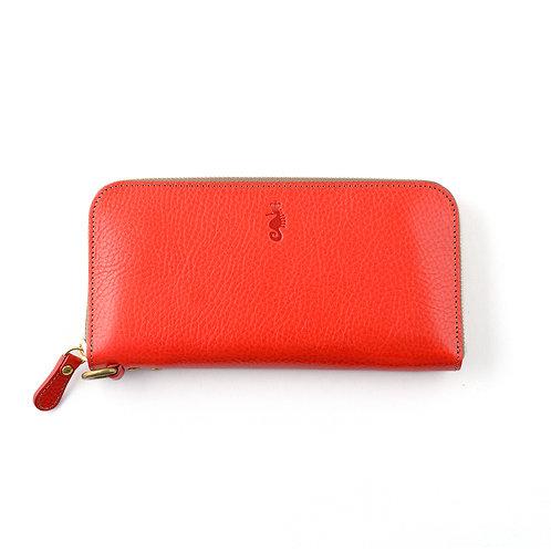 ラウンドファスナー財布L / Ruga Red
