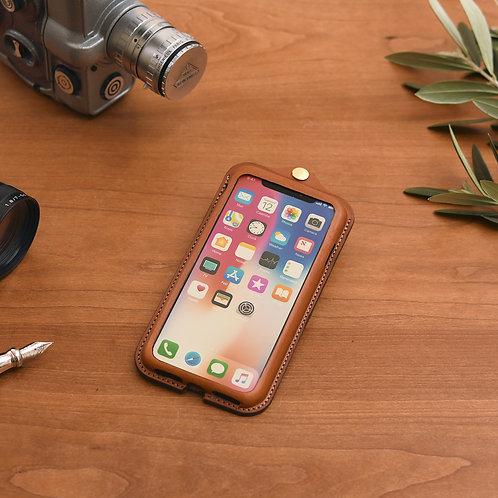 iPhoneX,XS用革ケース / Classic Brown