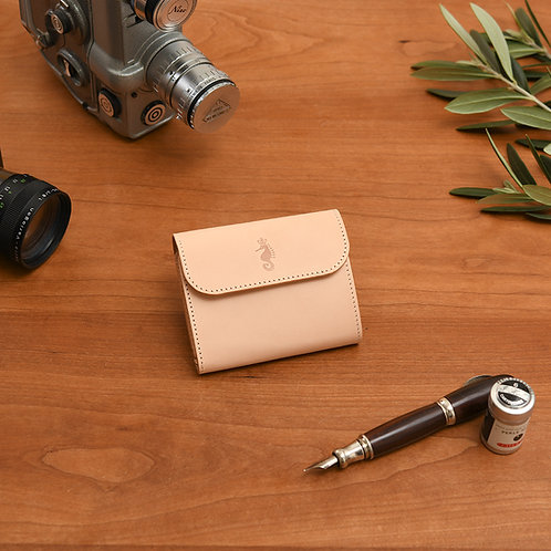 小型三つ折り財布 / Natural
