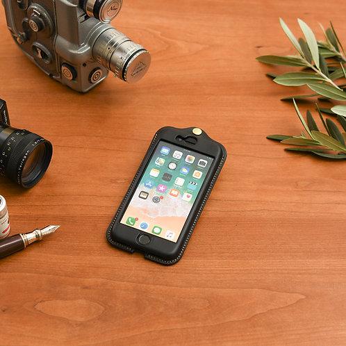 iPhone7,8,SE(2020)用革ケース / Classic Black