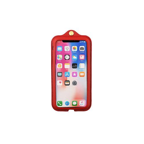 iPhoneX,XS用革ケース / Classic Red