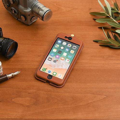 iPhone7,8plus用革ケース / Classic Brown