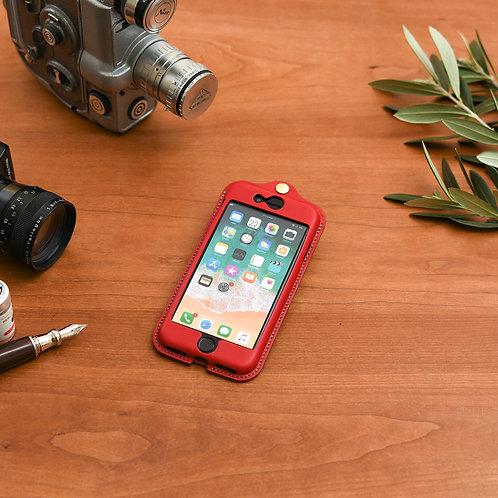 iPhone7,8,SE(2020)用革ケース / Classic Red