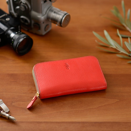 ラウンドファスナー財布M / Ruga Red