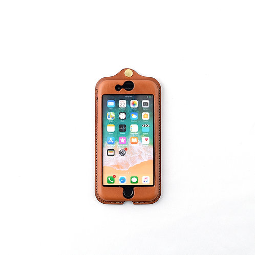 iPhone7,8,SE(2020)用革ケース / Classic Brown