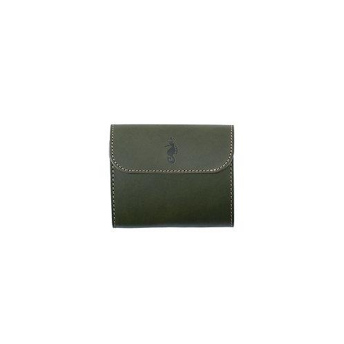 小型三つ折り財布 / Classic Green