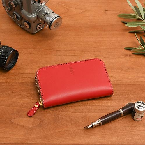 ラウンドファスナー財布M / Classic Red