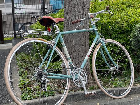 自転車をカスタマイズ