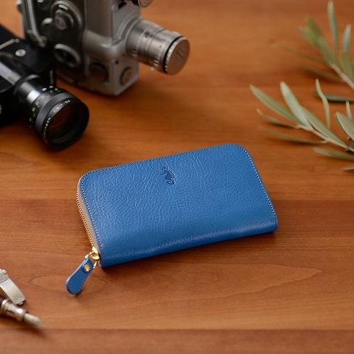 ラウンドファスナー財布M / Ruga Blue