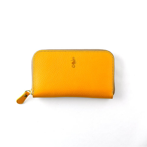ラウンドファスナー財布M / Ruga Yellow