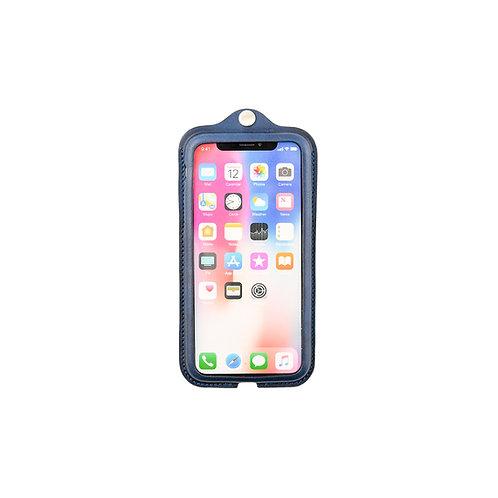 iPhoneX,XS用革ケース / 藍染Indigo