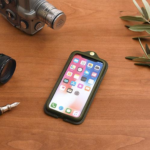 iPhoneX,XS用革ケース / Classic Green