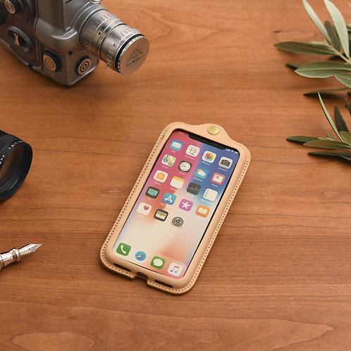 iPhoneX,XS用革ケース / Natural