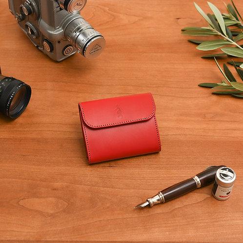 小型三つ折り財布 / Classic Red