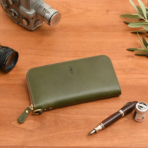 ラウンドファスナー財布L / Classic Green