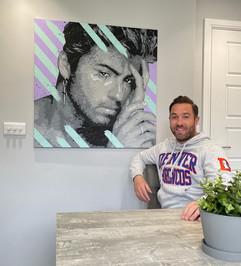 """""""Georgey Boy"""" 90x90cm acrylic on canvas (SOLD)"""