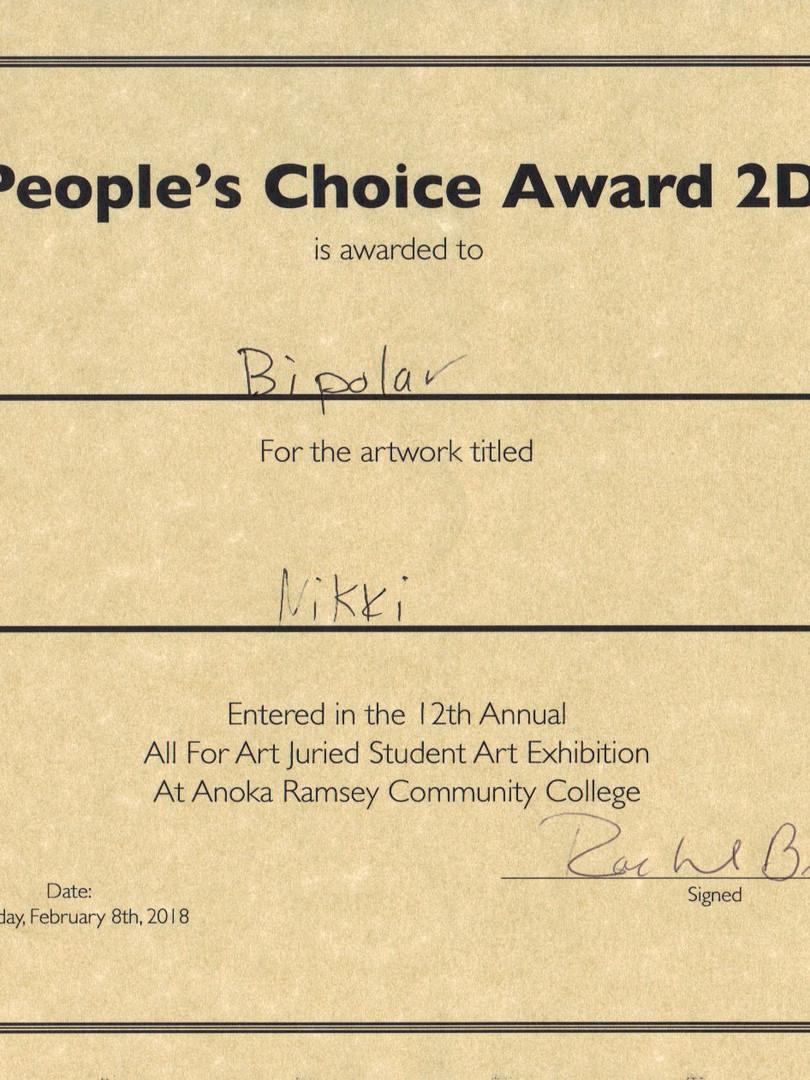 People's Choice Award 2D