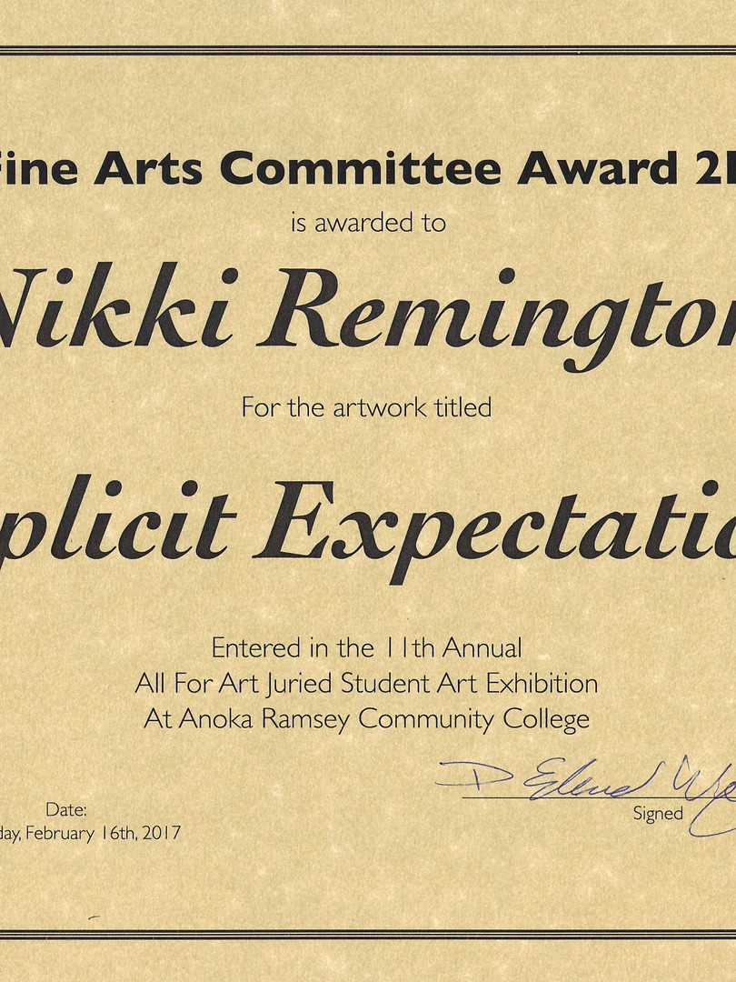 Fine Arts Committee Award for 2D