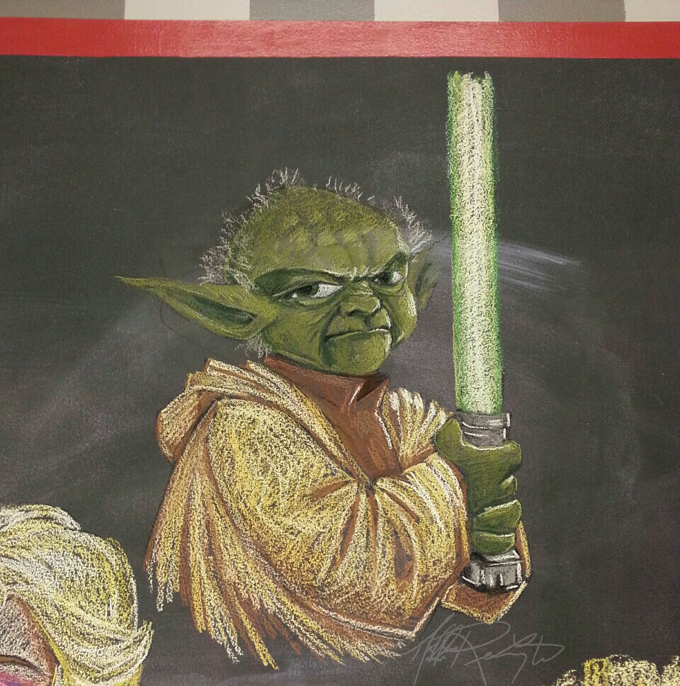 Chalk Yoda