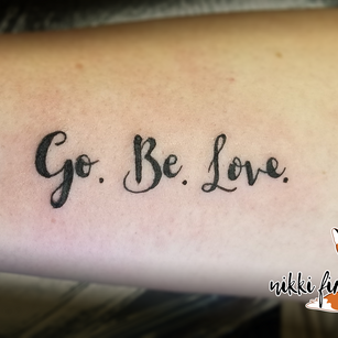 Go. Be. Love.