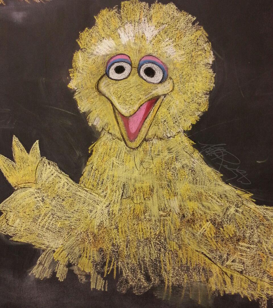 Chalk Big Bird