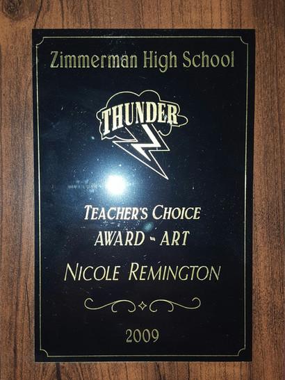 Teacher's Choice Award: Art