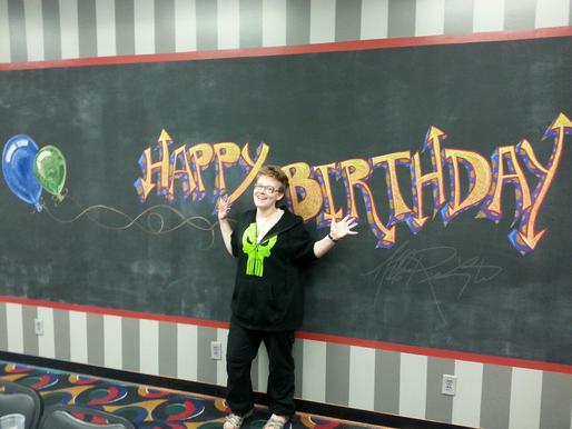Chalkboard Commission: Happy Birthday