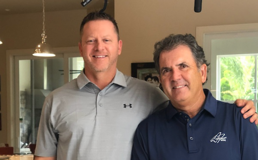 Golf Pro David Frost with Executive Producer Todd Graves