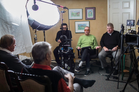 Interview with Moe's colleagues on the Canadian circuit, Tim McCutcheon (left) and Herb Holzsheiter (right)
