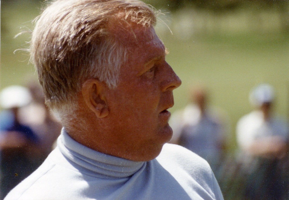 Close up of Moe Norman's face at the 1984 Canadian Open