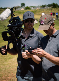 Associate Producer/Camera Operator Keenan Garrett with Director/Producer Nathan Edwards operating a drone