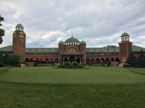 The crew's visit to Medinah Country Club